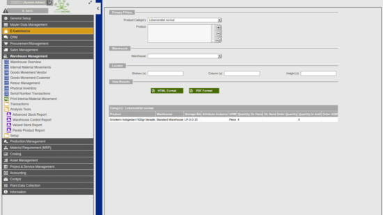 ERP customer specific modules and functionalities