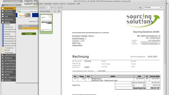 Create PDF invoices from completed orders