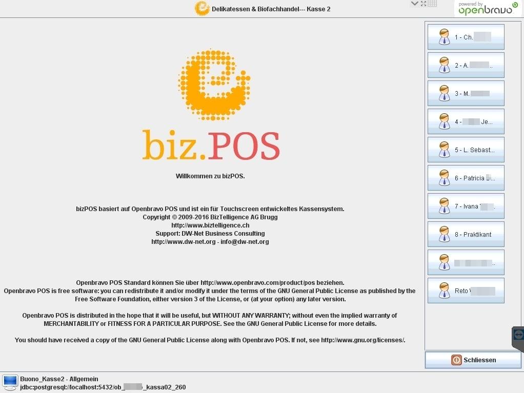 myPOS Startscreen