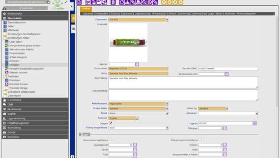 ERP Item Master Data