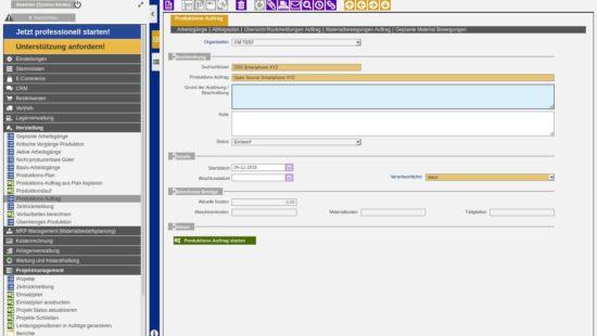 ERP Production Management