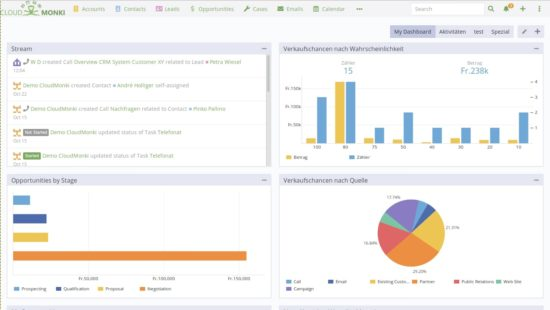 Put together personal dashboards