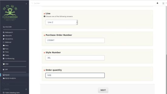 Workflow based user interface