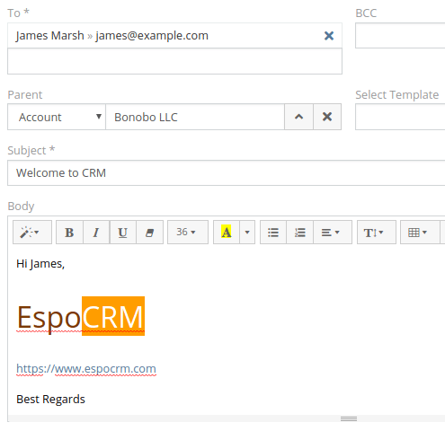 EspoCRM - Email Integration